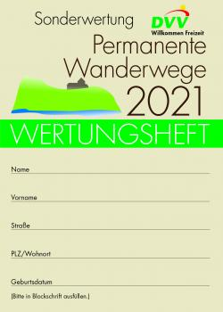 "Wertungsheft ""Permanente Wanderwege 2021"""