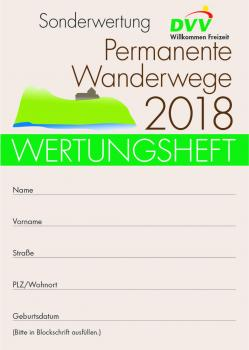 "Wertungsheft ""Permanente Wanderwege 2018"""