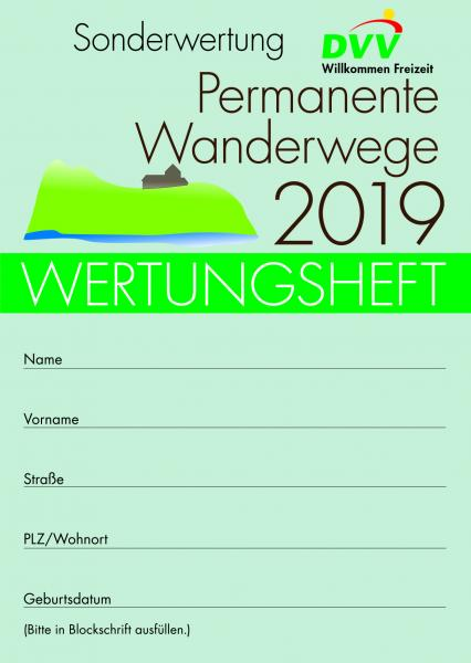 "Wertungsheft ""Permanente Wanderwege 2019"""